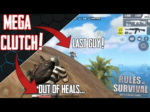 Rules of Survival - 300 Person Map CLUTCH WIN! UNEXPECTED Ending!