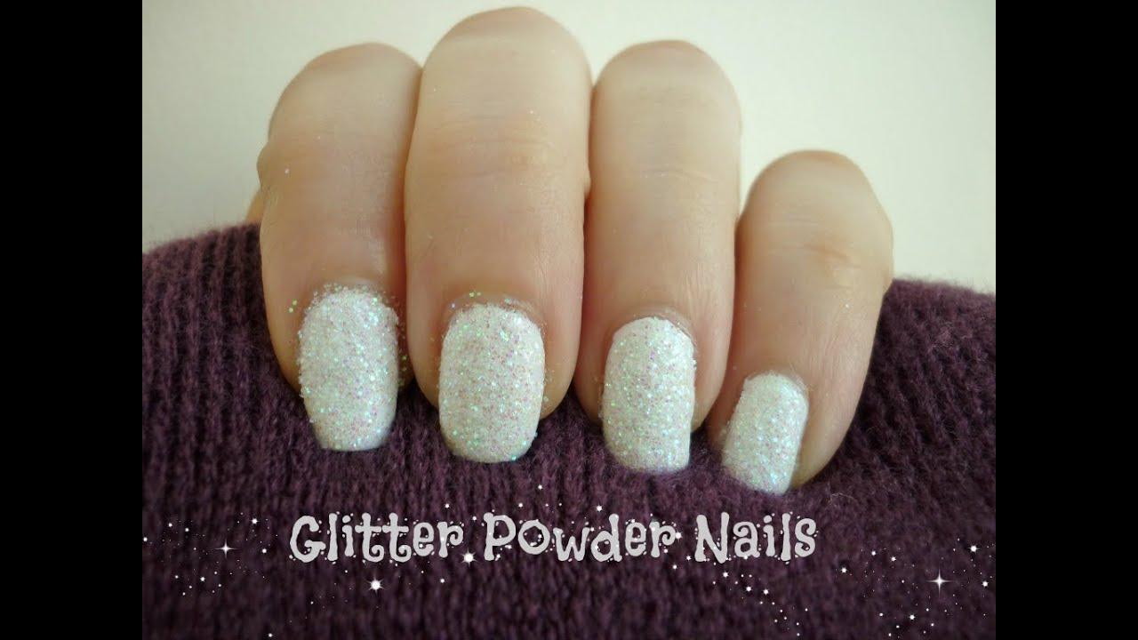 DIY Glitter Powder Winter Nails! - YouTube