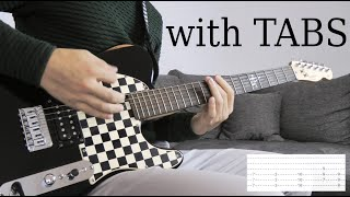 Skillet - Victorious Guitar Cover wTabs on screen