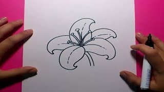 Como dibujar una flor paso a paso 9 | How to draw a flower 9