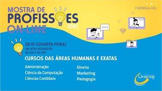 MOSTRA DE PROFISSÕES 2020 | CURSOS DA ÁREA DE HUMANAS