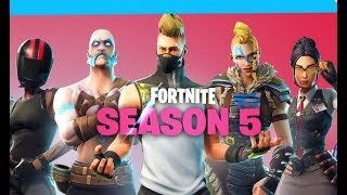 FORTNITE// SEASON 5 NOW OUT WITH NEW BATTLE-PASS, SKINS, VEHICLES AND MORE!!!!