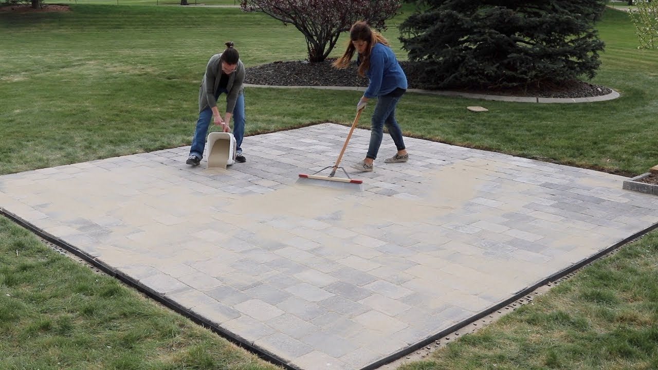 paver patio start to finish