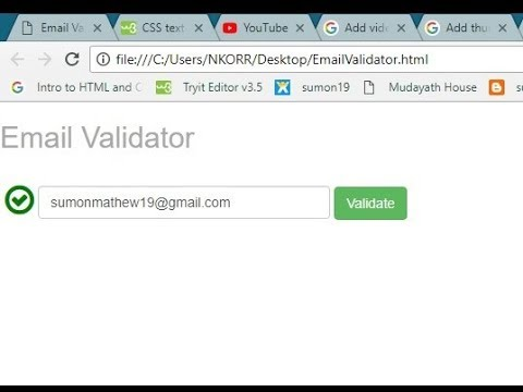 Email Exist Validation API  |Using | Jquery |Javascript| Bootstrap | Html|Code|Api |Url