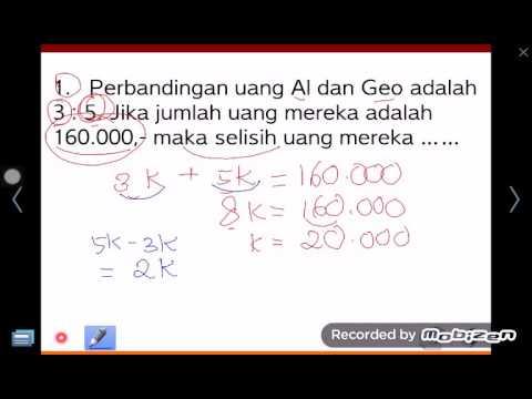 Perbandingan Matematika Sd Kelas 6a Jumlah Uang Youtube