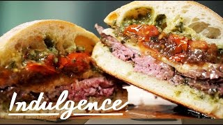 How to Make a Steak, Roasted Tomato and Caramelized Onion Sandwich