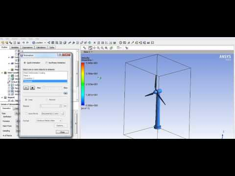 Ansys CFX/Solid Edge V20 Wind Turbine