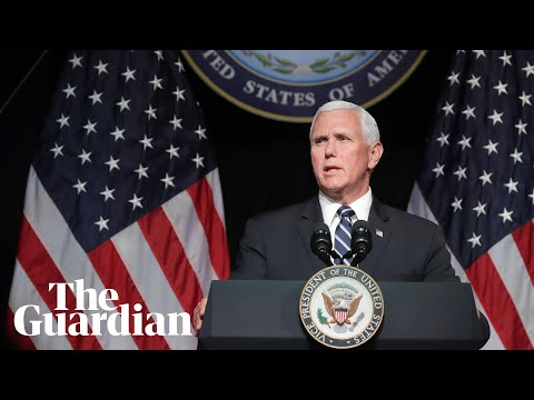 Mike Pence announces US plan to create military space force by 2020