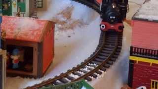 Village playmobil western  sous la neige