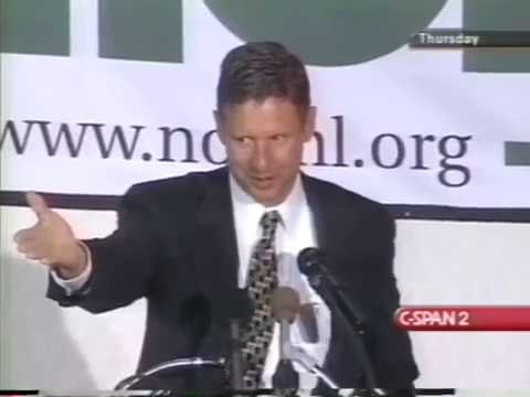 Gov. Gary Johnson discussing Marijuana Laws 4/19/2001