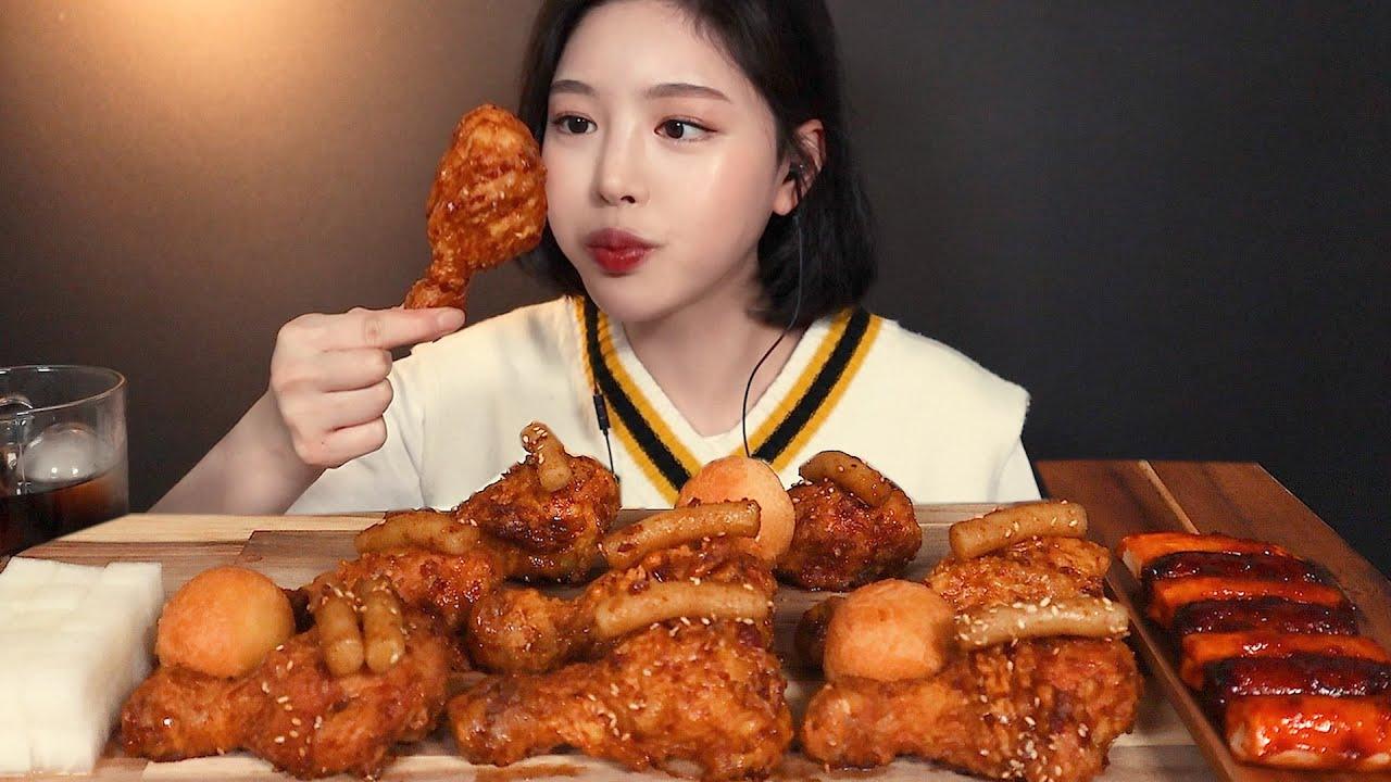 SUB[광고]또래오래치킨 단짠스틱 먹방🍗 소떡에 치즈볼까지 리얼사운드 chicken cheeseball sotteok mukbang ASMR