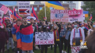 Armenian Community In Boston Protests Country's Conflict With Azerbaijan