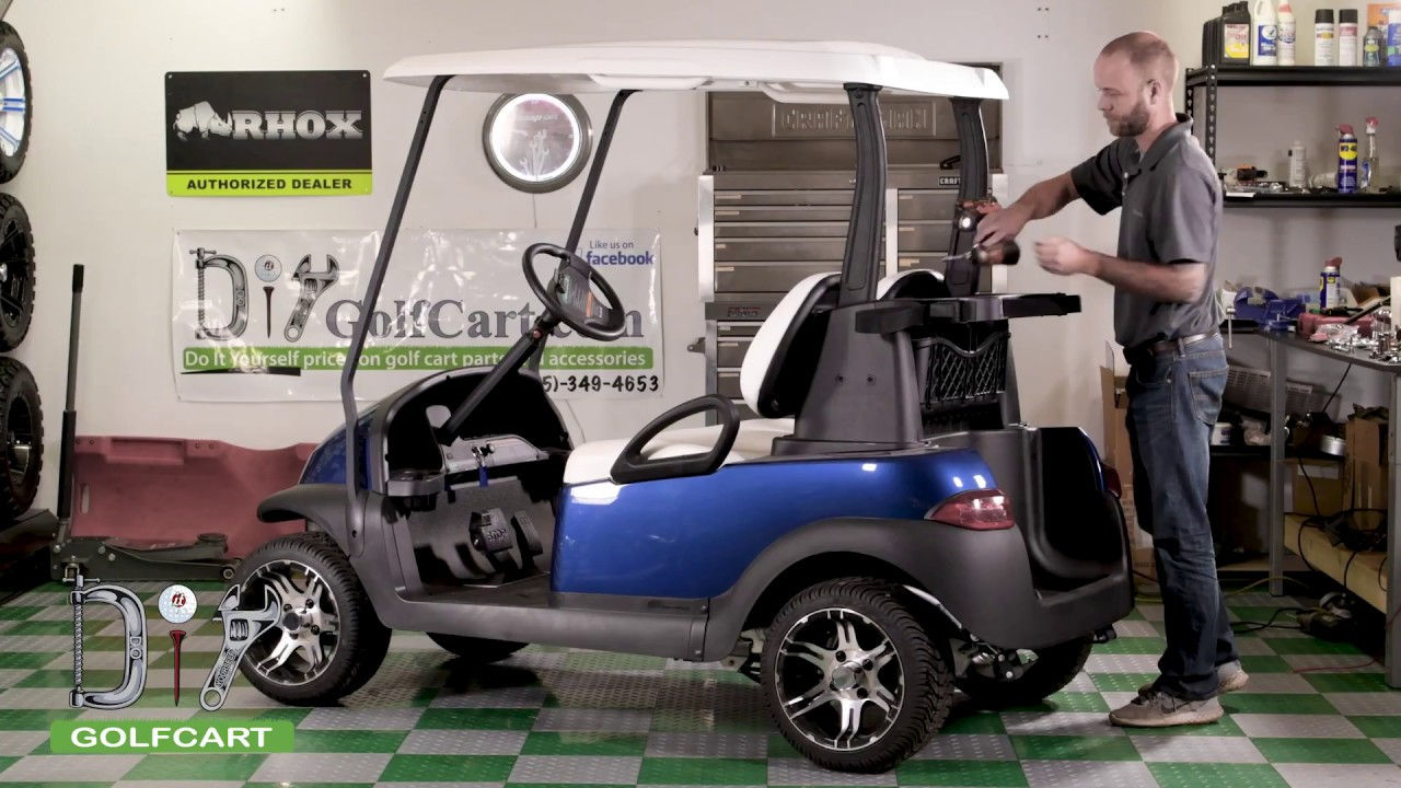 modz all american rear flip seat kit install on club car precedent golf cart [ 1280 x 720 Pixel ]