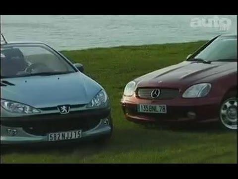 Mercedes Slk 200k Peugeot 206 Cc 2 0 Test Essai Reportage Fr 2001