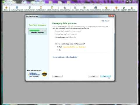 Quickbooks Tutorial - Set up a new company - YouTube