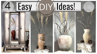 DIY Vase Ideas | Chalk Painting Furniture with Saltwash Textures