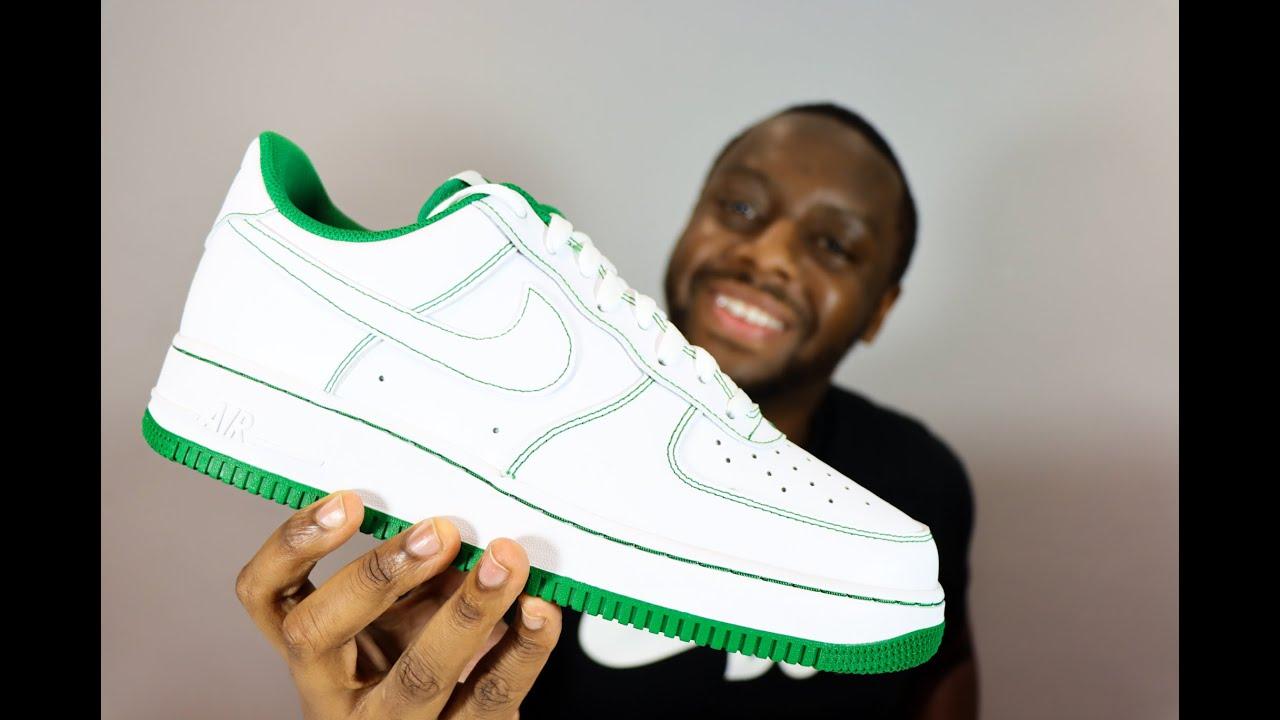 Air Force 1 Stitch Pack Pine Green On-Feet Sneaker Review - QuickSchopes 112 Schopes - CV1724 103