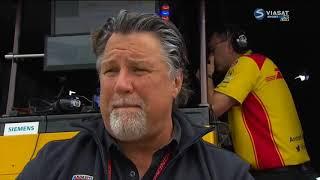 (spotter audio) Robert Wickens and RHR crash  - you stay classy Michael - IndyCar Pocono 2018