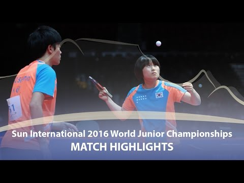 WJTTC 2016 Highlights: Cho Seungmin/Kim Jiho vs Yuki Matsuyama/Hina Hayata (Final)