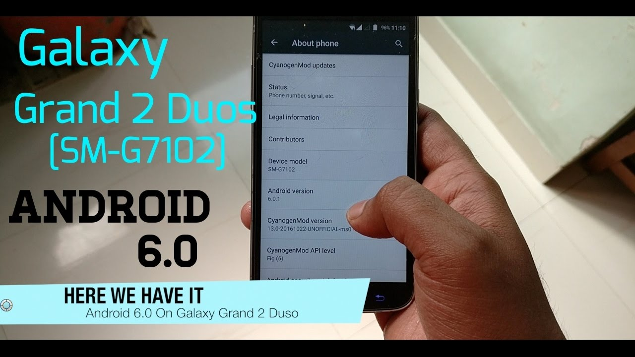 Installing Android 6 0 On Galaxy Grand 2 Duos [SM-G7102] [Stable]