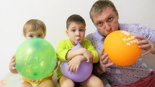 Learn Colors with Balloons & Finger Family Song Nursery Rhymes for Kids