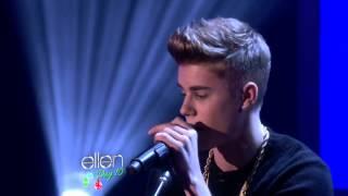 Justin Bieber Sings As Long As You Love Me at Ellen