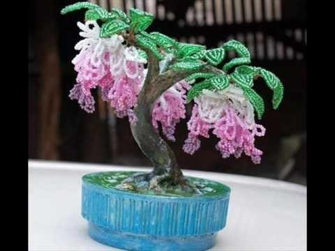 цветы из бисера видео
