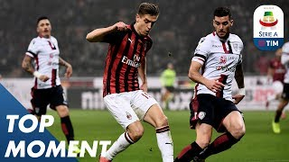 Piątek scored his fourth goal for Milan | Milan 3-0 Cagliari | Top Moment | Serie A