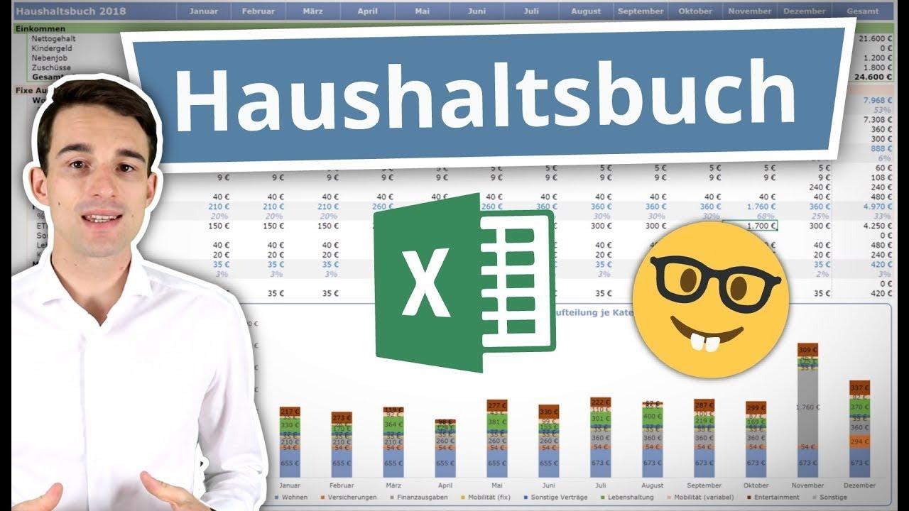 Excel Haushaltsbuch Erstellen Fuhren Anleitung Inkl Vorlage Youtube