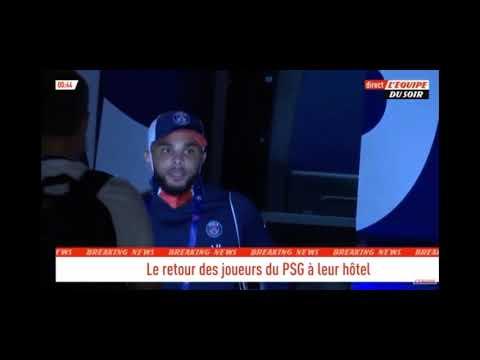 leipzig psg 0-3 retour à l'hôtel Lisbonne des joueurs neymar