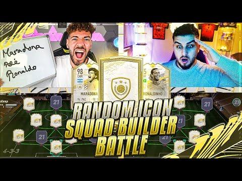 FIFA 21: RANDOM OVERPOWERED ICON MOMENTS Squad Builder Battle 🔥🔥 Wakez vs Seko !!