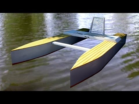 Wooden Micro Catamaran - Part 3 - YouTube