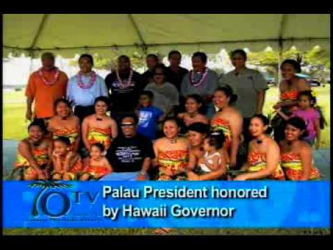Palau President Honored By Hawaii Governor