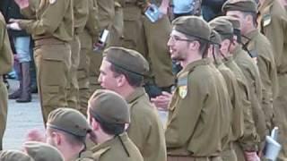 Shalom in the Israeli Army - Graduation from Basic Training Ceremony (3 min)