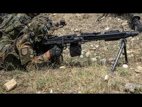 German Army MG3 Machine Gunners in Action
