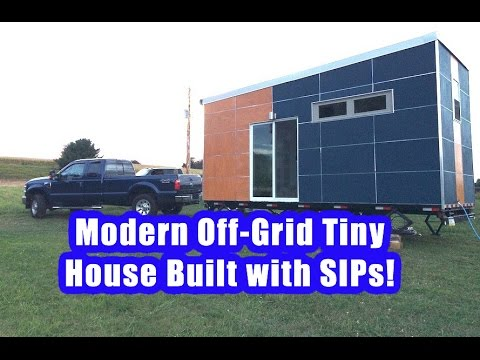 20 39 Modern Off Grid SIP Tiny House On Wheels YouTube