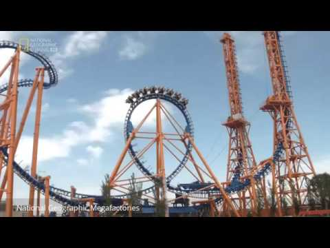 HD Extreme Roller Coaster - World's Best Extreme Amusement Ride - National Geographic Megafactories