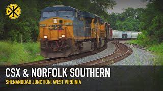 CSX and NS Action at Shenandoah Junction