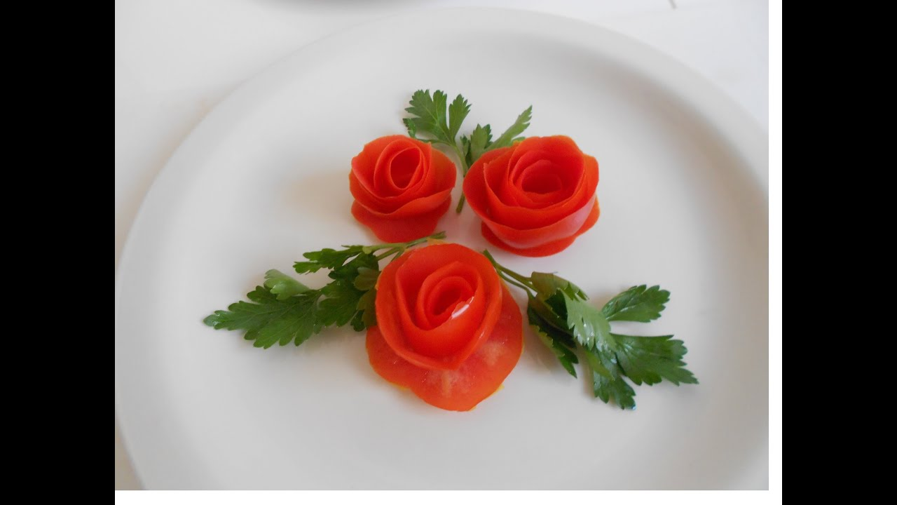 Vegetable Carving With Tomato Simple and easy...