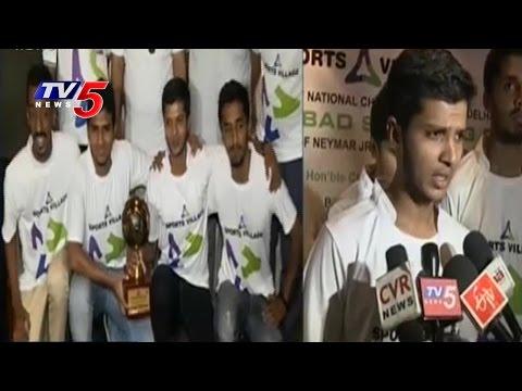Hyderabad Team Wins Redbull Neymar JR.Five Football Championship | TV5 News