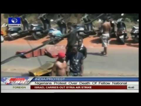 Nigerians in India protest over death of Nigerian