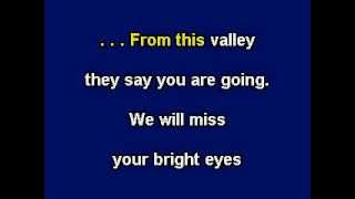 Red River Valley, Karaoke video with lyrics, Instrumental Version