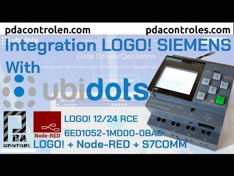 Integration Platform Ubidots with LOGO! Siemens using Node-RED