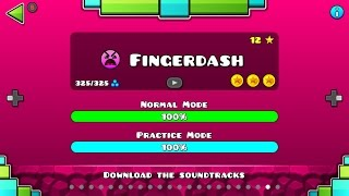 FingerDash by Robtop || level 21 || Geometry dash 2.1 || 3coins || 100% || HD