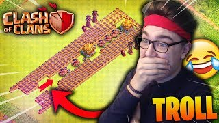 😂 CLASH OF CLANS ! 😂 ÉNORME  BASE TROLL ! BASE INVINCIBLE ! 😂