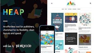 HEAP Wordpress Theme Review & Demo | Snappy Responsive WordPress Blog Theme | HEAP Price & How to Install