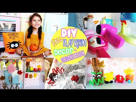 DIY Fall Room Decor EASY Crafts for Kids and Playroom Organization Tip 4K GoPro5