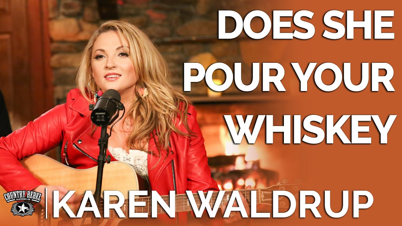 Karen Waldrup - Does She Pour Your Whiskey? (Acoustic) // Fireside Sessions