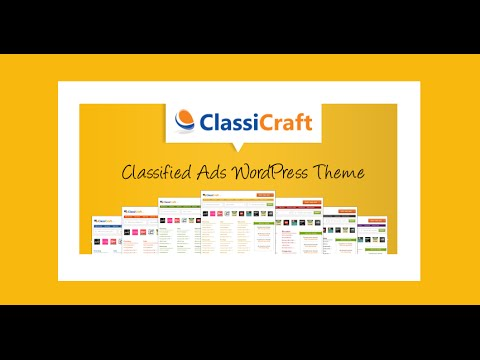 ClassiCraft review and demo - Classified Ads Wordpress Theme - YouTube
