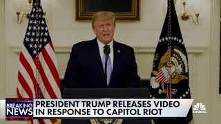 President Donald Trump releases video in response to the Capitol riot